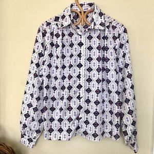 Vintage 1980s Printed Button Down Collared Shirt